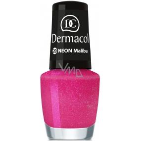 Dermacol Neon Polish Neonový lak na nehty 20 Malibu 5 ml