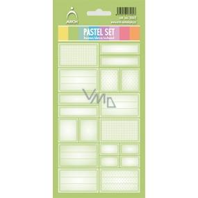 Arch Samolepky do domácnosti Pastelový set světle zelený 3562 12 etiket