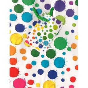 Nekupto Dárková papírová taška malá 14 x 11 x 6,5 cm barevné kaňky 1167 02 BS