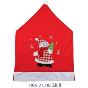 Návlek na židli s vánočním motivem 64 x 45 cm