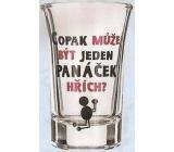 Nekupto Dárky s humorem Panák skleněný humorný Copak může být jeden panáček hřích? 0,04 l, WG 002