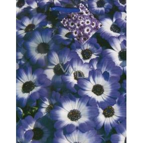Nekupto Dárková papírová taška 23 x 18 x 10 cm Fialové květiny 1107 40 KFM