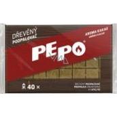 Pe-Po Podpalovač dřevěné kostičky aroma kakao 40 podpalů