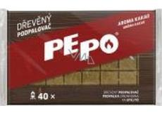 Pe-Po Dřevěný podpalovač kostičky aroma kakao 40 podpalů