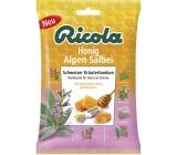Ricola Honig Alpen Salbei Medovo - Šalvějové švýcarské bylinné bonbóny bez cukru s vitamínem C z 13 bylin, zklidňuje krk 75 g