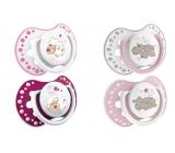 Lovi Night & Day Šidítko silikonové dynamické růžové pro děti 3-6 měsíců 2 kusy