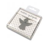 Nekupto Dárková klíčenka pro štěstí Andělíčku, můj strážníčku… 4 cm
