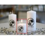 Lima Horoskop Vodnář svíčka krychle 45 x 45 mm 1 kus