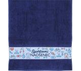 Albi Ručník Sportovní nadšenec tmavě modrý 90 x 50 cm