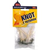Fire Knot s výztuhou pro výrobu gelových svící 7 cm 10 kusů