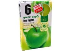 Tea Lights Green Apple s vůní zeleného jablka vonné čajové svíčky 6 kusů