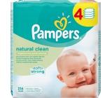 Pampers Natural Clean vlhčené ubrousky 4 x 64 kusů