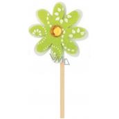 Květinka z filcu zelená 4 cm + špejle