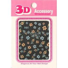 Nail Accessory 3D nálepky na nehty 10100 A44 1 aršík