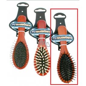Profiline Wood Kartáč na vlasy dřevěný plastové hroty černé 22 cm