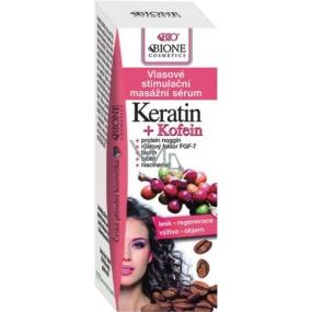 Bione Cosmetics Keratin & Kofein vlasové stimulační masážní sérum 215 ml