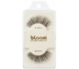 Bloom Natural nalepovací řasy z přírodních vlasů obloučkové černé č. 747L 1 pár