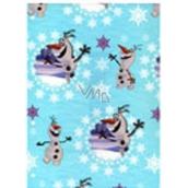 Ditipo Disney Vánoční balicí papír pro děti 2 m x 70 cm tyrkysový Olaf