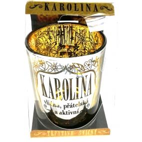 Albi Třpytivý svícen ze skla na čajovou svíčku KAROLÍNA, 7 cm