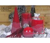 Lima Artic svíčka červená elipsa 110 x 125 mm 1 kus