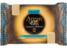 Nuagé Skin Argan Oil vlhčené odličovací ubrousky 25 kusů