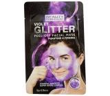 Beauty Formulas Fialová & třpytivá slupovací pleťová maska 10 g