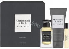 Abercrombie & Fitch Authentic Man toaletní voda pro muže 100 ml + toaletní voda 15 ml + sprchový gel 200 ml, dárková sada