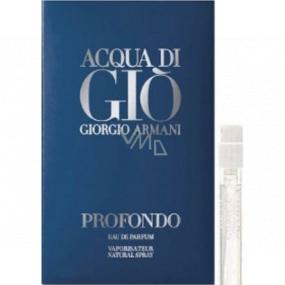 Giorgio Armani Acqua di Gioia Profondo parfémovaná voda pro muže 1,2 ml s rozprašovačem, vialka
