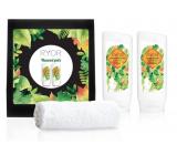 Ryor Bylinný šampon s pantenolem 200 ml + regenerační kondicionér s pantenolem 200 ml měkký froté ručník 30 x 50 cm, vlasová péče