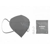 Healfabric Respirátor ústní ochranný 5-vrstvý FFP2 obličejová maska šedá 1 kus