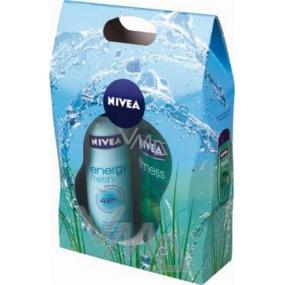 Nivea Kazfresh sprchový gel 250 ml + antiperspirant sprej 150 ml, pro ženy kosmetická sada