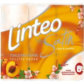 Linteo Satin Care and Comfort toaletní papír Broskev 2 vrstvý 180 útržků 9 kusů