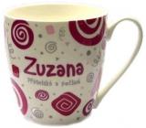 Nekupto Twister hrnek se jménem Zuzana růžový 0,4 litru 084 1 kus