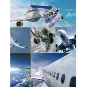 Nekupto Dárková papírová taška střední 984 40 BM letadla 23 x 18 x 10 cm