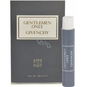 Givenchy Gentlemen Only toaletní voda 1 ml s rozprašovačem, vialka