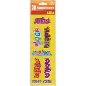 Nekupto 3D Samolepky se jménem Adéla 8 kusů 014