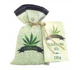 Bohemia Gifts & Cosmetics Cannabis koupelová sůl v plátěném sáčku 150 g