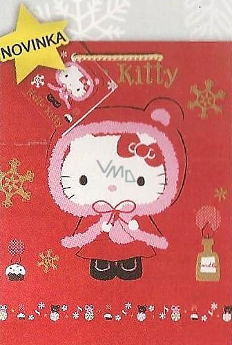 Nekupto Dárková papírová taška velká 33 x 26 x 13 cm Hello Kitty vánoční 1191 WLGL