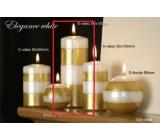 Lima Elegance White svíčka zlatá válec 60 x 150 mm 1 kus
