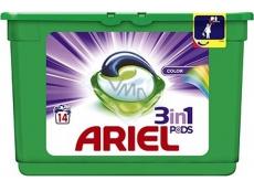 Ariel 3v1 Color gelové kapsle na praní prádla chrání a oživují barvy 14 kusů 418,6 g