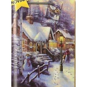 Nekupto Dárková papírová taška velká 32,5 x 26 x 13 cm Vánoční 1479 40 WBL