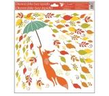 Okenní fólie bez lepidla podzimní zvířátka 33 x 30 cm podzimní zvířátka Liška