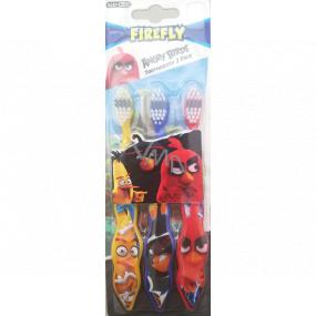 Angry Birds Měkký kartáček na zuby pro děti 3 kusy