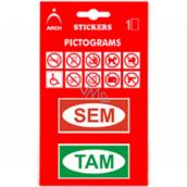 Arch Informační piktogramy Sem a Tam v blistru 9,5 x 16,5 cm