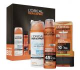 Loreal Paris Men Expert sprchový gel 300 ml + antiperspirant deodorant sprej 150 ml + pěna na holení 200 ml, kosmetická sada pro muže