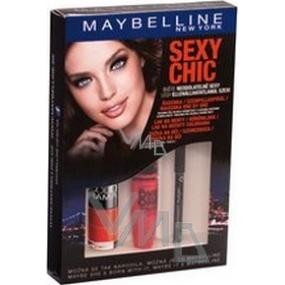 Maybelline Sexy Chic řasenka 9,6 ml + lak na nehty 7,5 ml + tužka na oči 2 g, kosmetická sada