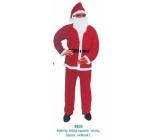 Oblek Santa pro dospělého, kalhoty, blůzka, opasek, vousy, čepice velikost L