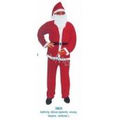 Kostým Mikuláš / Santa pro dospělého, kalhoty, blůzka, opasek, vousy, čepice velikost L