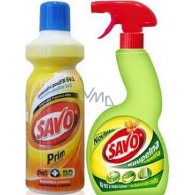 Savo Prim Dezinfekční čisticí prostředek 1 l + Savo Koupelna 500 ml