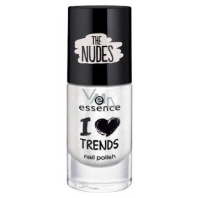 Essence I Love Trends Nail Polish The Nudes lak na nehty 01 Walk On The White Side 8 ml